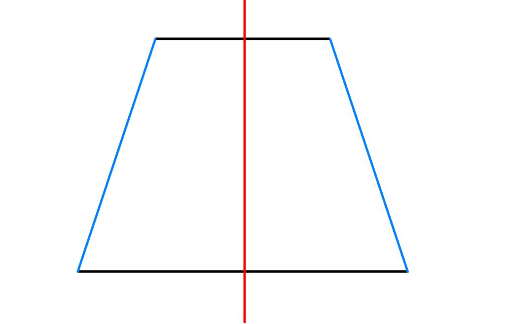 Viereck, Haus der Vierecke, Symmetrieachsen, Trapez, gleichschenklig