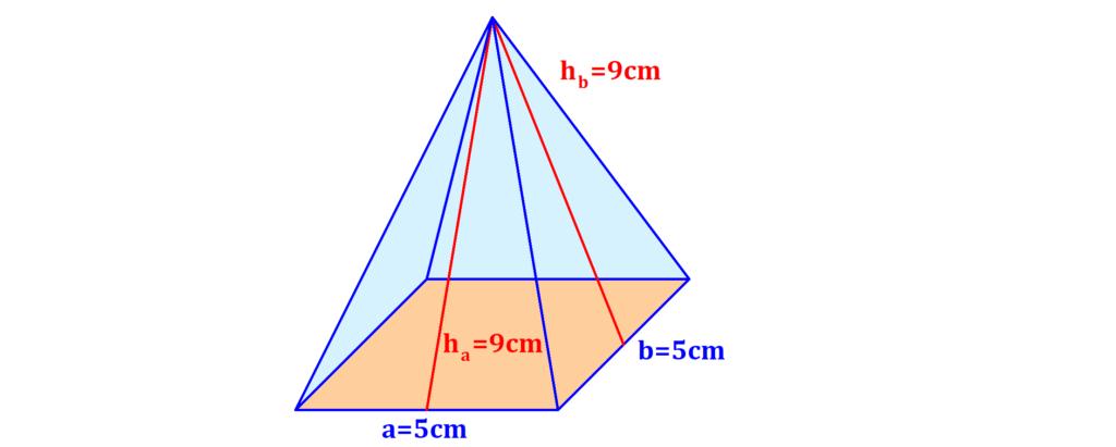 Viereck, Viereckspyramide, Dreick, Höhe, Seite, Basis