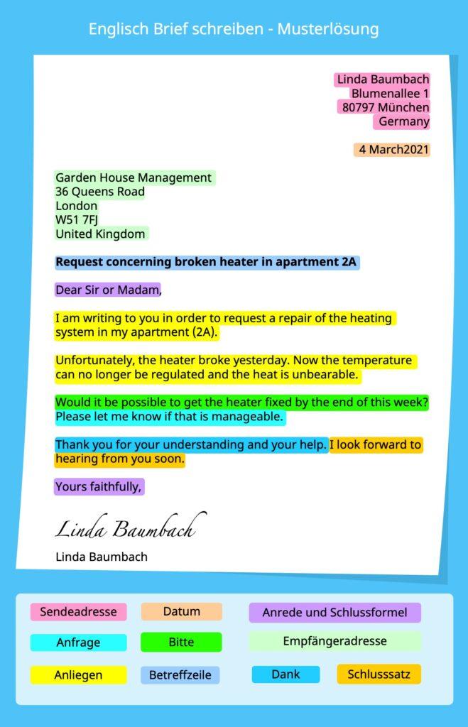 englisch brief schreiben, brief englisch, Brief auf englisch, persönlicher Brief, personal letter, formeller Brief, formal letter