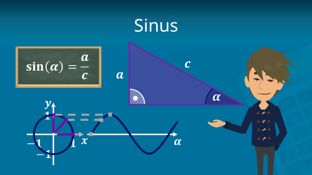 Zum Video: Sinus, Hypotenuse berechnen