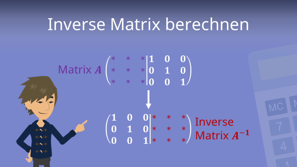 Zum Video: Inversive Matrix berechnen