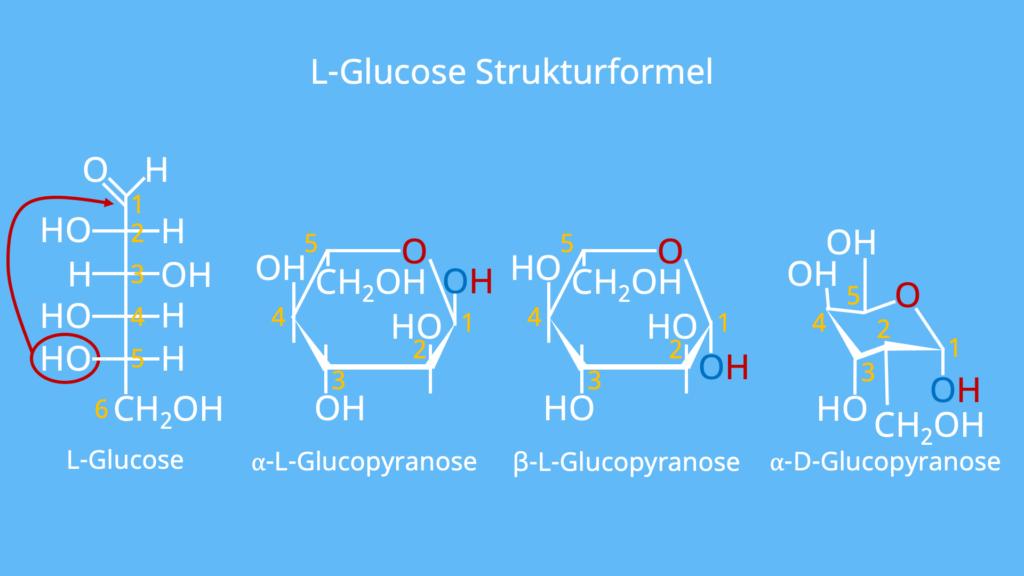 L Glucose, Glucose Strukturformel, Glucose Sesselform Zuckermolekül, Was ist Glucose, Glucose Aufbau, Traubenzucker Formel, Was ist Traubenzucker, Glucose Haworth