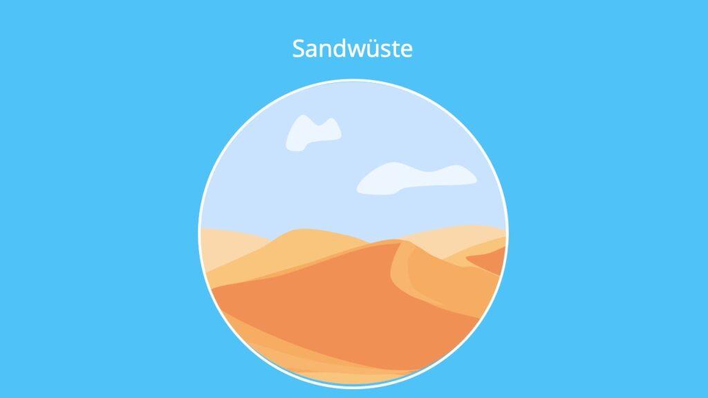 Wüste, Sandwüsten, Sahara, afrikanische Wüste, Wüstenarten