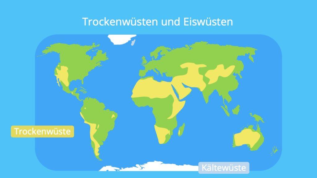 Wüsten der Erde, Wüsten Karte, Kältewüsten, Hitzwüsten
