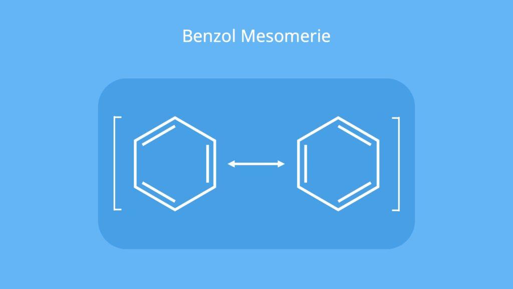 Was ist Benzol, Benzene, Benzen, Benzol Formel, Benzolring, C6H6, Aromat Kohlenwasserstoff, Aromat Chemie, Aromate, benzene ring, Mesomeriepfeil, Mesomerie Benzol